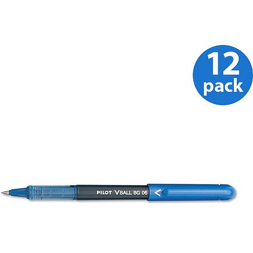 Pilot BeGreen Vball Roller Ball Stick Pens, Blue, 12-Pack