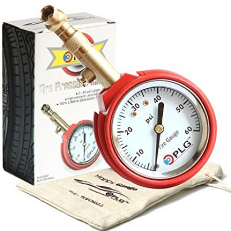 professional air tire pressure gauge, 60 psi, best for car, motorcycle, truck, suv, atv & rv