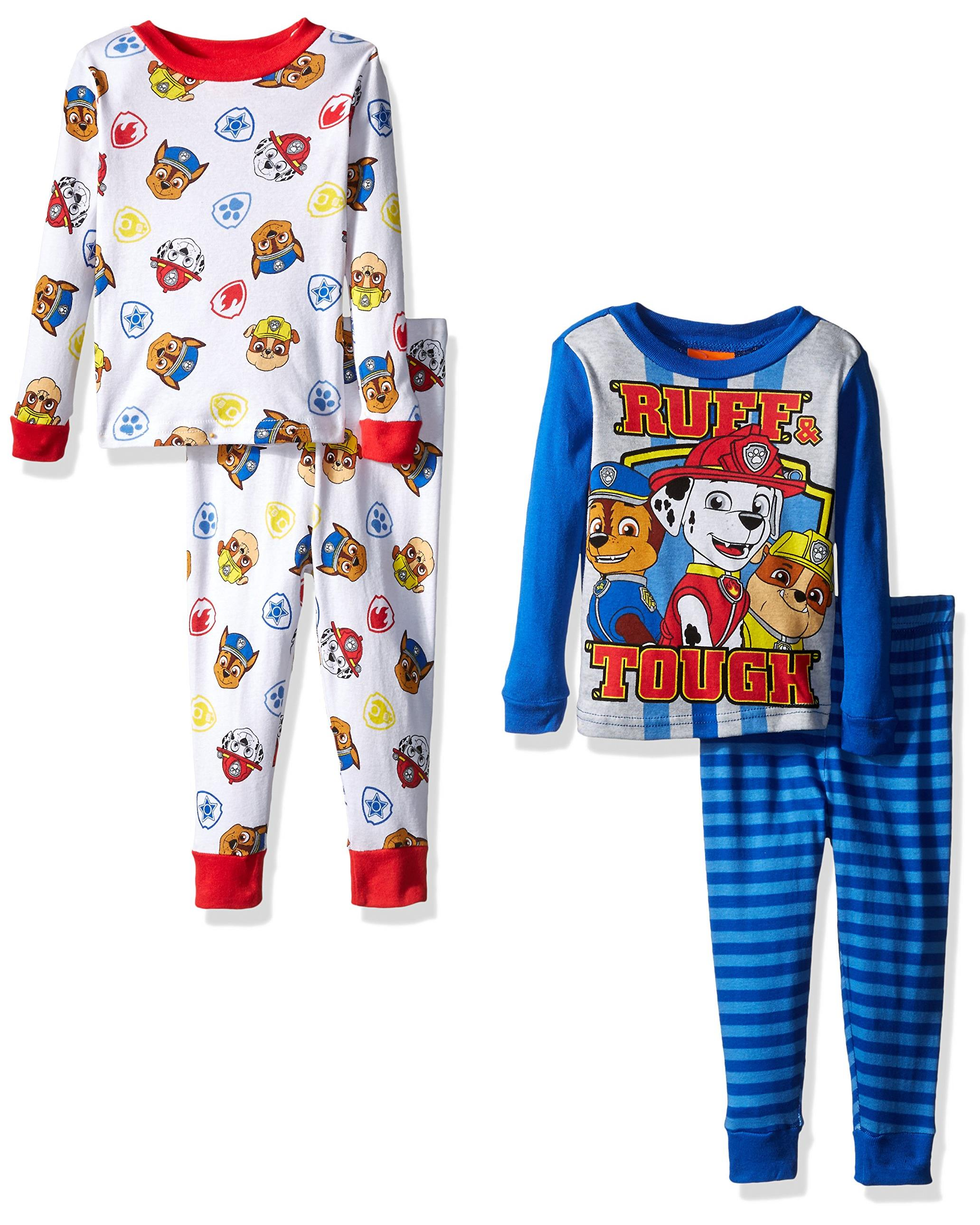 76aa944d1 Nickelodeon Boys  Paw Patrol Toddler 4-Piece Pajama Set