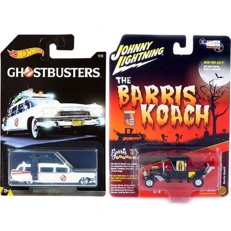 Munsters George Barris Koach Family Car 2017 TV Show Hobby Model & Hot Wheels Exclusive Ghostbusters Ecto-1 Movie Ambulance Creepy Set Limited Edition 2-Pack Johnny Lightning for $<!---->