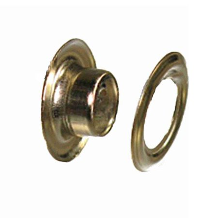 #0 Grommets Solid Brass Nickle Finish with Washer Leather Craft - 10 Pack
