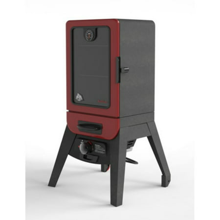Pit Boss 2 Series Gas Vertical Smoker, 542Sq in. Wood Chip Smoker, Red