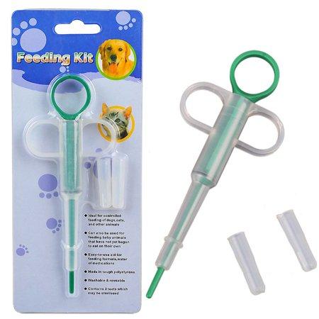 AngelCity Baby Pet Newborn Dog Cat Small Animals Feeding Needle Tube Kit,Pet Medicine Milk Syringes For Kitten