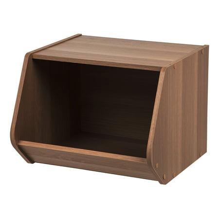 IRIS Modular Wood Stacking Open Storage Box