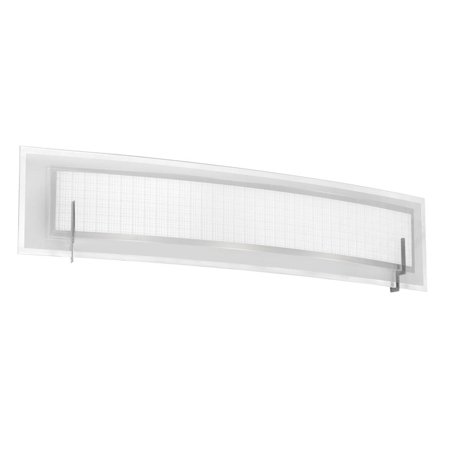 Dainolite 3 Light Vanity Fixture w/Linen Glass - Satin Chrome Satin Chrome 3 Light