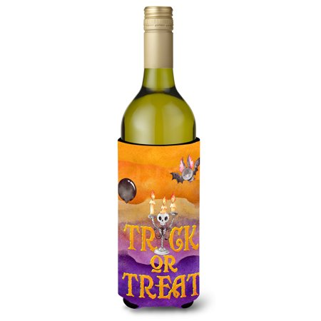 Halloween Painted Wine Bottles (Halloween Trick or Treat Wine Bottle Beverge Insulator Hugger)