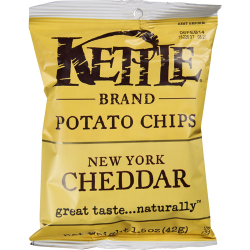 Kettle Brand New York Cheddar Potato Chips, 1.5 oz, (Pack of 24) by Generic