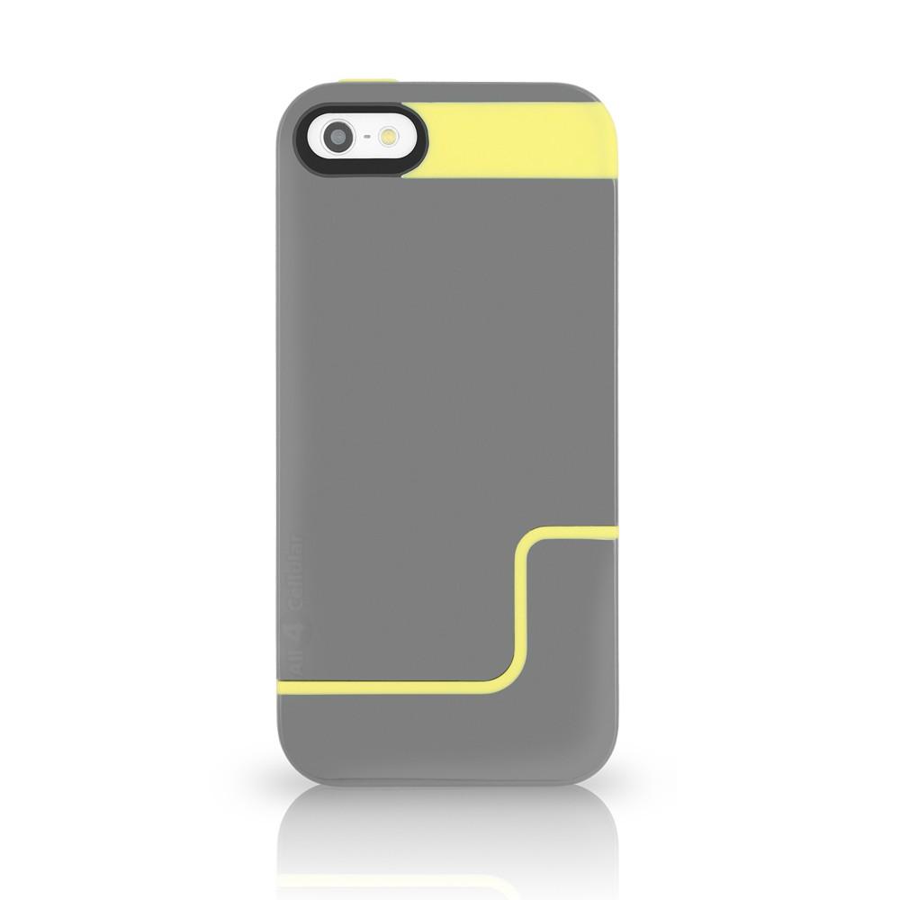 Incipio EDGE PRO for iPhone 5 - Charcoal Gray / Citron Yellow