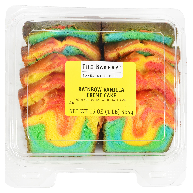 The Bakery Rainbow Vanilla Crème Cake, 16 oz