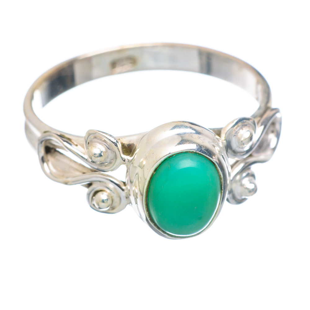 Ana Silver Co Chrysoprase Ring Size 9.25 (925 Sterling Silver) Handmade Jewelry RING856342 by Ana Silver Co.