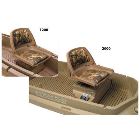 2000 Series Stealth Beavertail 400257 Additional Seat for Duck Hunting Boat