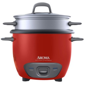 AROMA ARC-747-1NGR Red 7 Cups (Uncooked)/14 Cups (Cooked) Pot-Style Rice Cooker