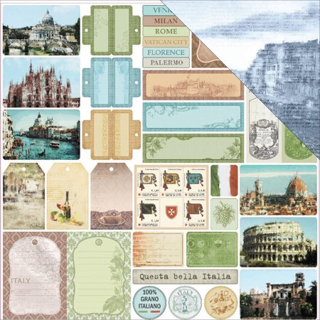 Scrapberrys Discover Italy Double Sided Cardstock 12  X12   Bella Italia