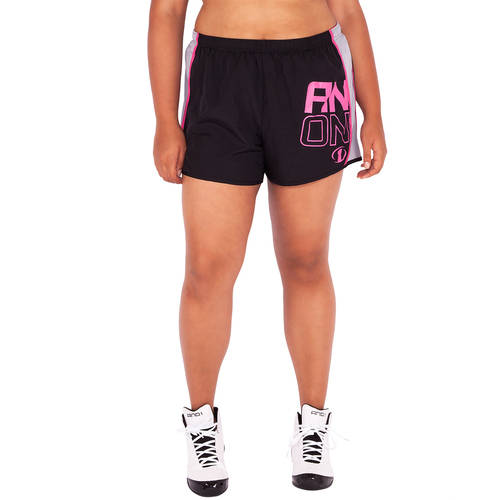 AND1 Women's Plus-Size Woven Graphic Running Short