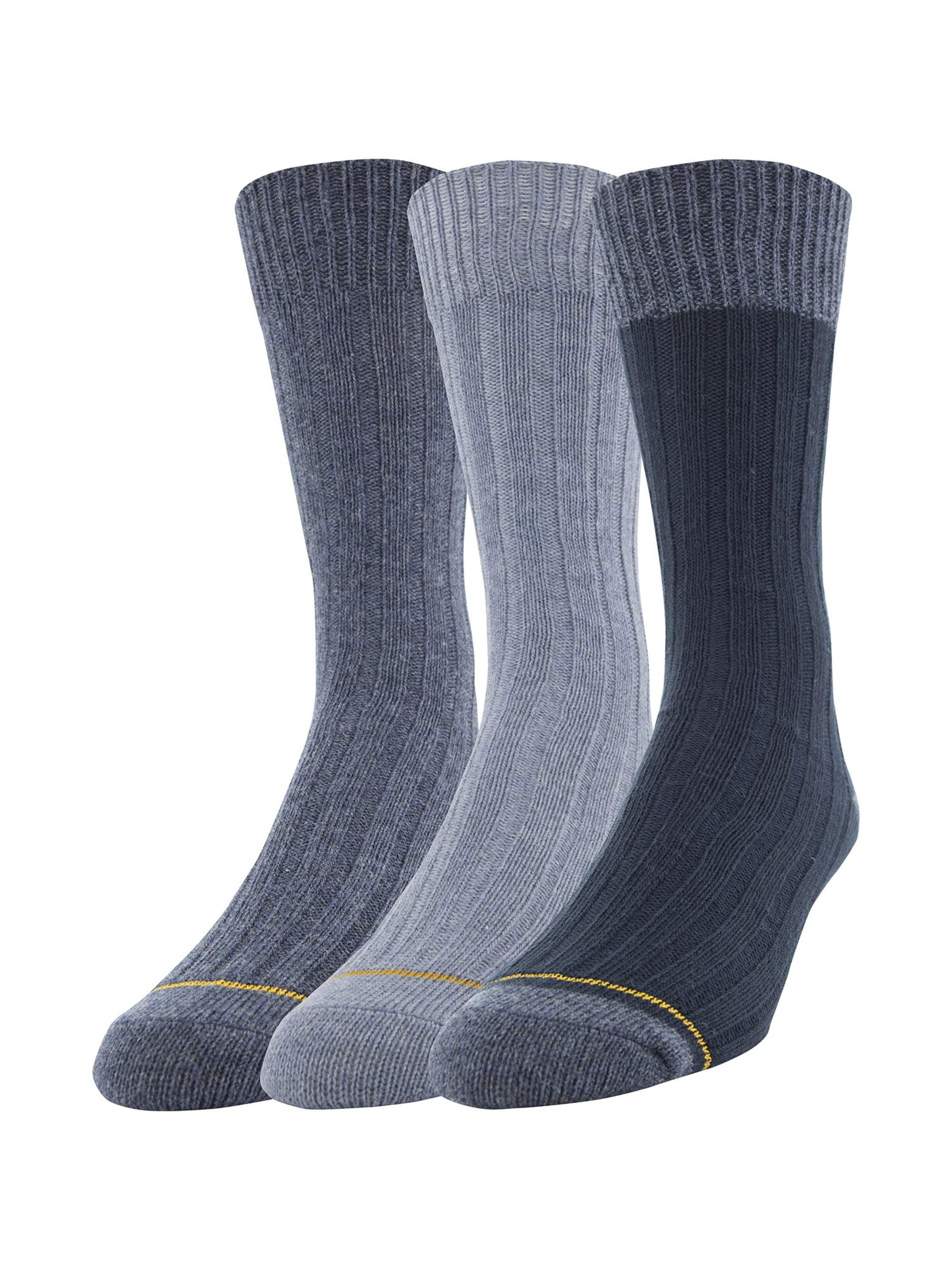 Men's Cotton Rib Dress Casual Socks, 3-Pack