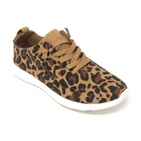 Not Rated Women's Mayo Leopard Fashion Sneakers