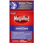 MegaRed Joint Care, Omega 3 Krill Oil, Hyaluronic Acid and Astaxanthin Supplement 30 ct