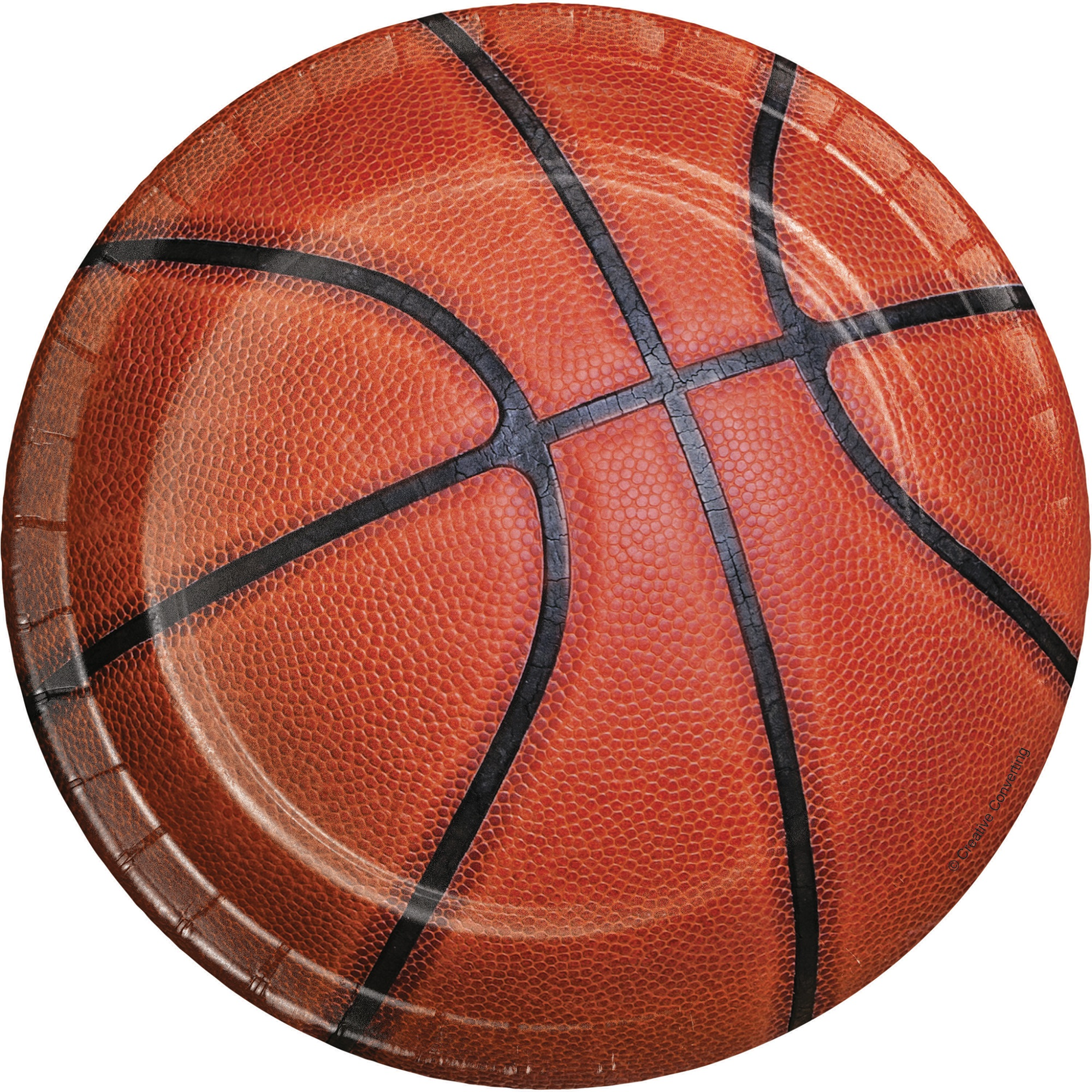 """Club Pack of 192 Sports Fanatic Basketball Disposable Paper Party Lunch Plates 7"""""""