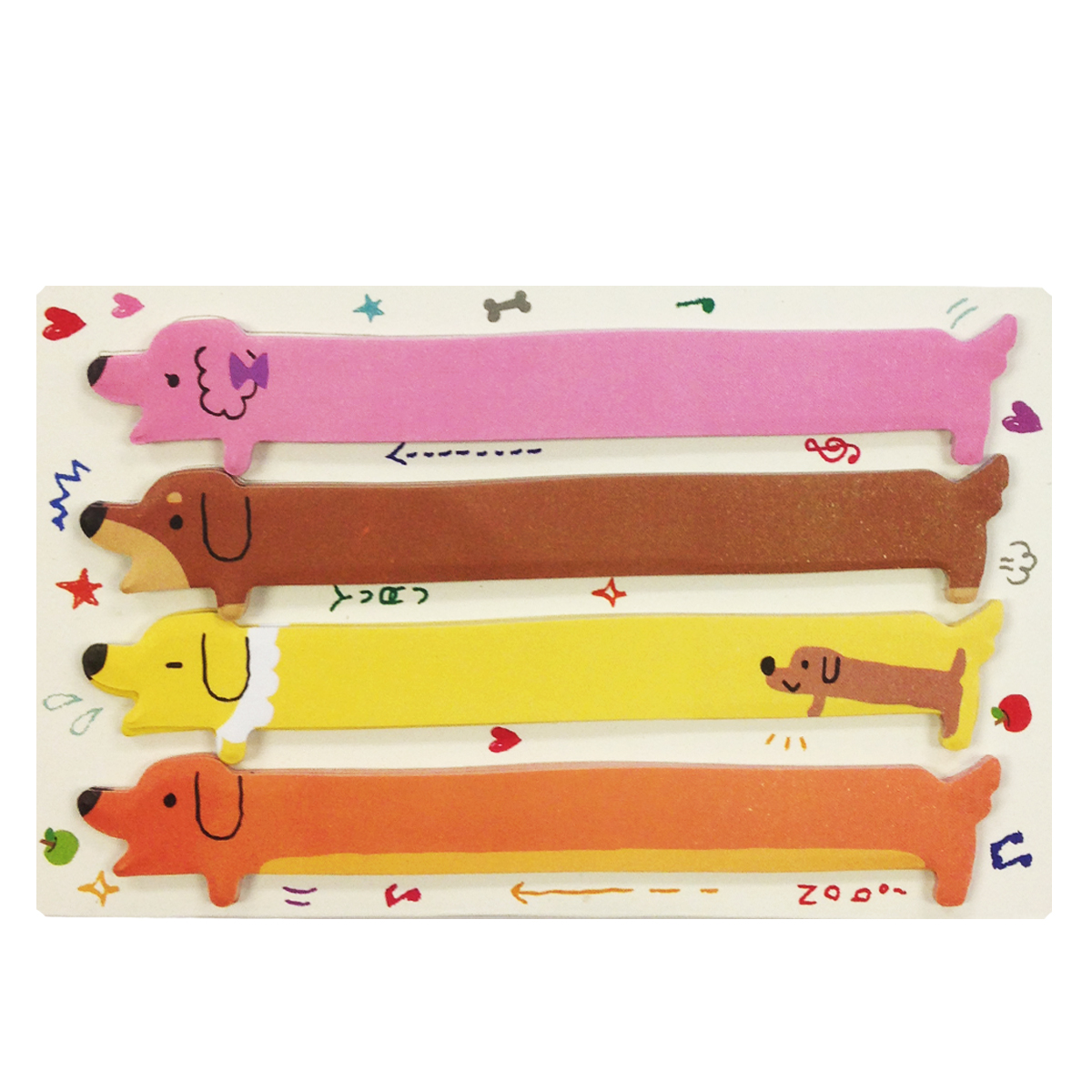 Wrapables® Hot Dog Bookmark Flag Index Tab Sticky Notes