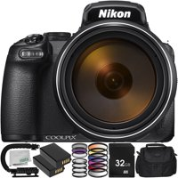 Nikon COOLPIX P1000 Digital Camera with 9PC Accessory Bundle – Includes 2x Replacement Battery (EN-EL20) + 3PC Multi Coated Filter Kit + 4PC HD Macro Close-Up Lenses + Medium Carrying Case + MORE