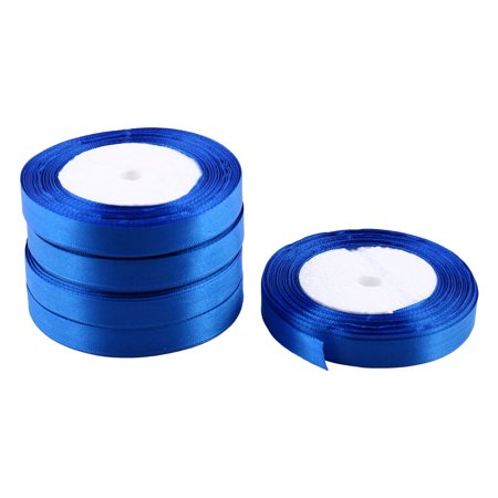 Room Decoration Polyester Gift Packing Crafting Satin Ribbon Roll Tape Blue - Room Roll