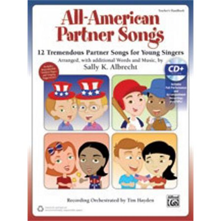 Alfred All American Partner Songs Voice Book   Enhanced Cd