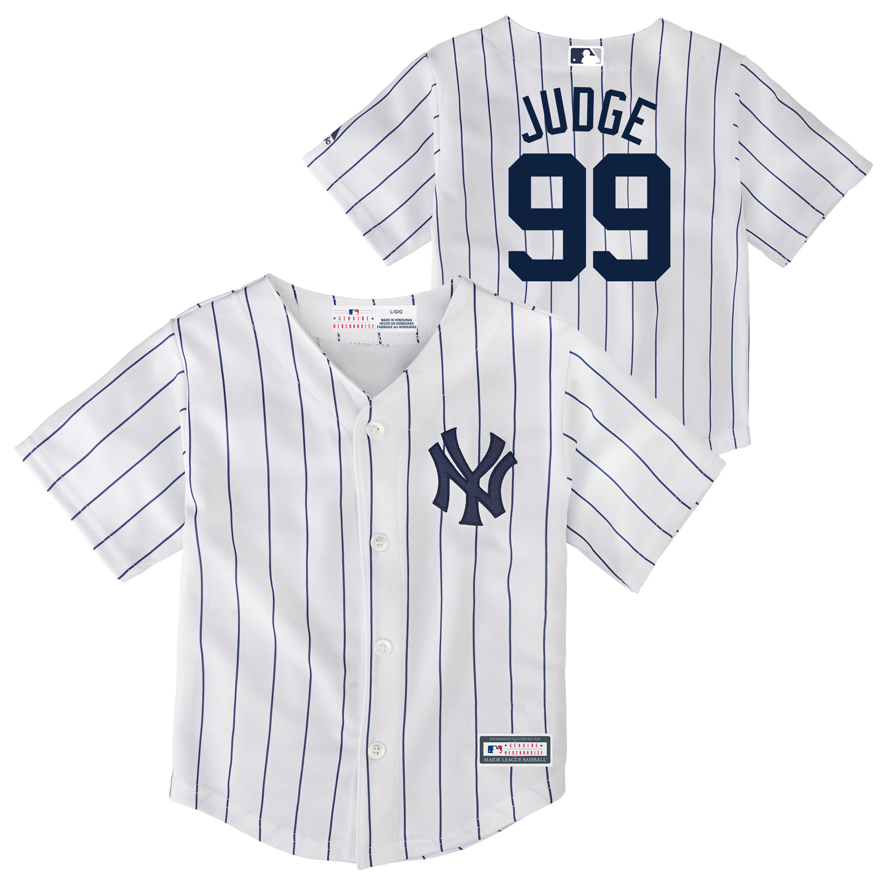 6d1042107 Aaron Judge New York Yankees Infant Replica Player Jersey - White -  Walmart.com