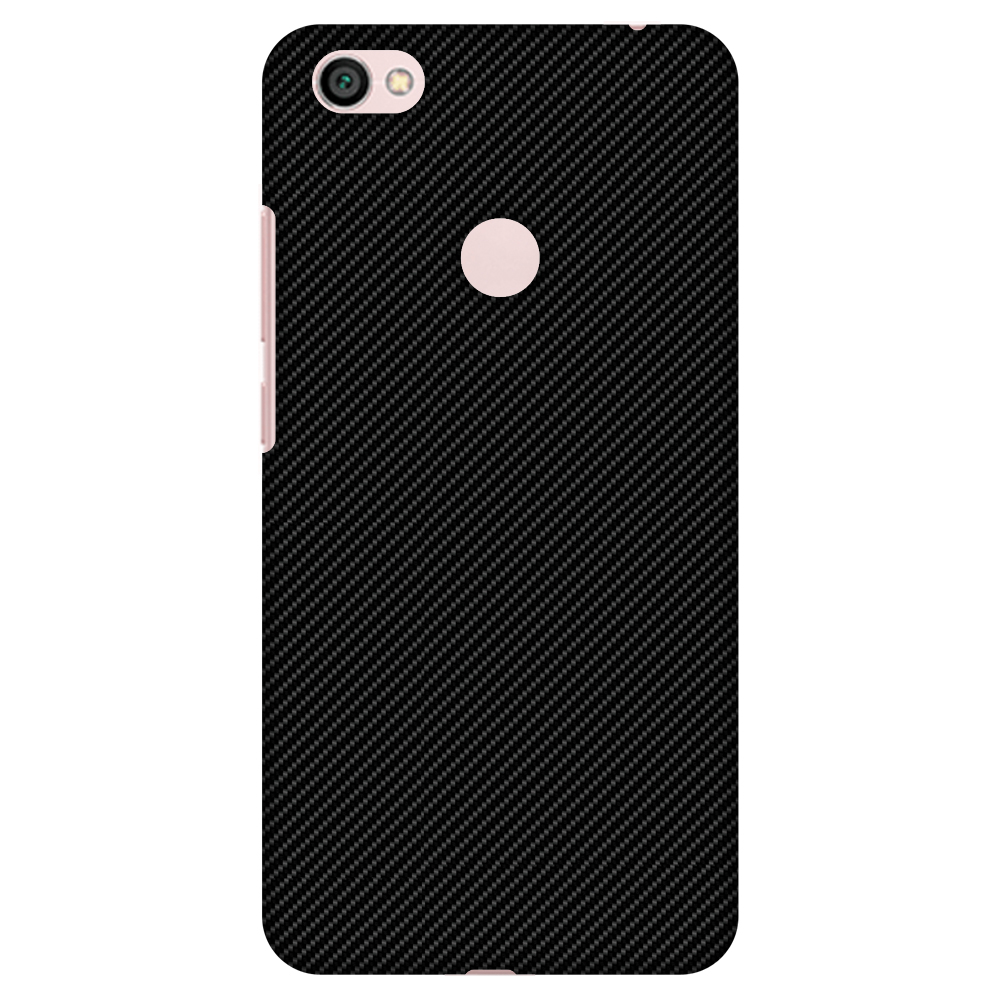 Xiaomi Redmi Note 5A Prime Case, Xiaomi Redmi Y1 Case - Carbon Black With Texture,Hard Plastic Back Cover. Slim Profile Cute Printed Designer Snap on Case with Screen Cleaning Kit