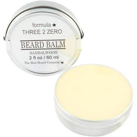 The Best Beard Company Formula Three 2 Zero Sandalwood Beard Balm, 2 fl