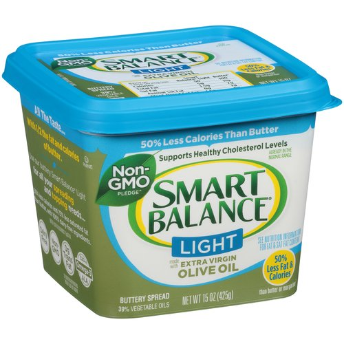 Smart Balance Made with Extra Virgin Olive Oil Light Buttery Spread, 15 oz