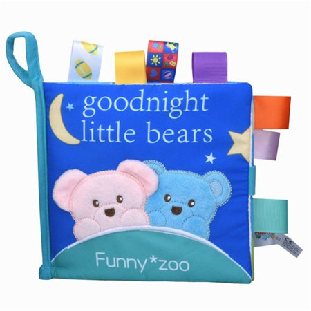 Anti Tear 3D Animal Cognitive Book with Sound Paper Educational Rattles Toy Bear Ring paper + rattle + BB