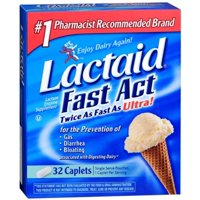LACTAID Fast Act Caplets 32 Caplets (Pack of 2)