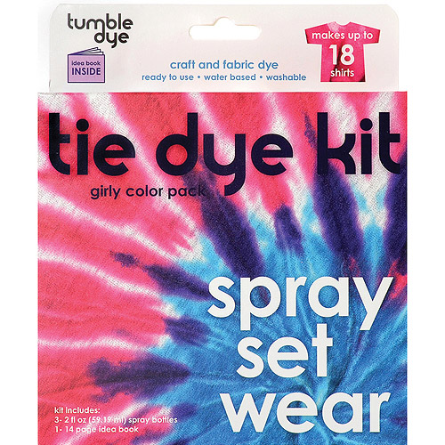 Neon Colour Pack Tumble Dye Craft /& Fabric Tie Dye Kit Makes Up To 12 Shirts