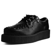 Black Faux Leather Anarchic Creeper - US: Mens 3 / Womens 5 / Black / Synthetic