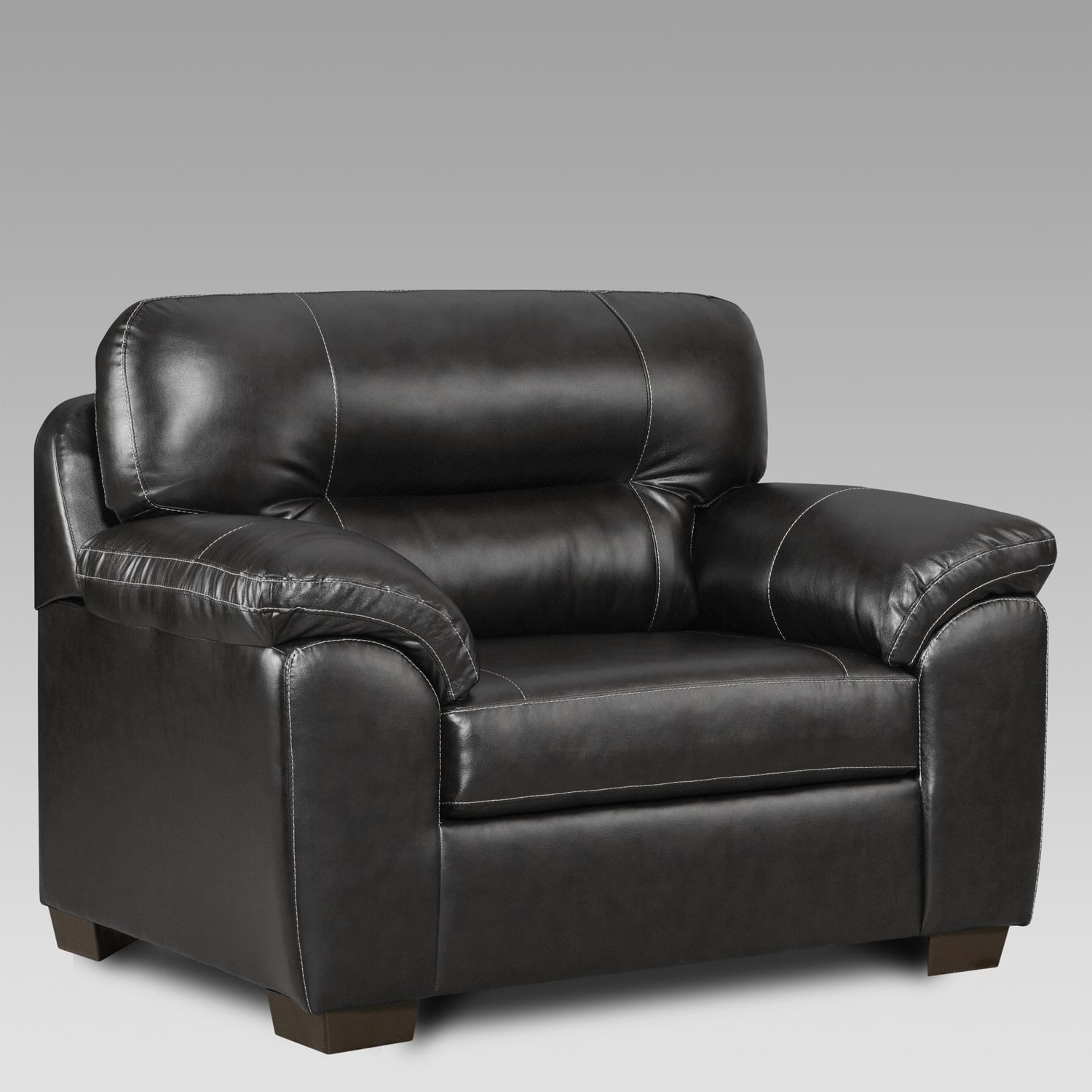 Oliver & James Aarts Faux-leather Oversized Chair by Overstock