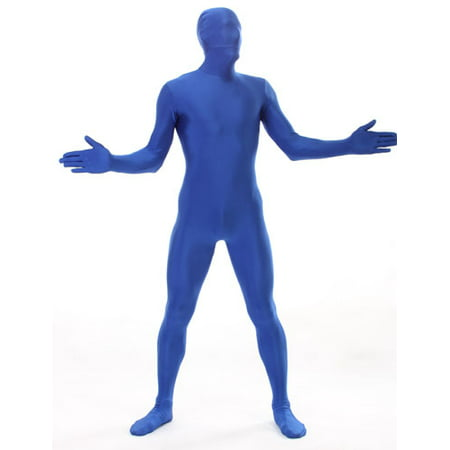 Deluxe Blue Skintight Bodysuit Morphsuits Adult Costume