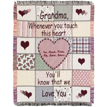 Personalized Grandma's Touch 40 X 40 Throw Walmart Extraordinary Grandmother Throw Blanket