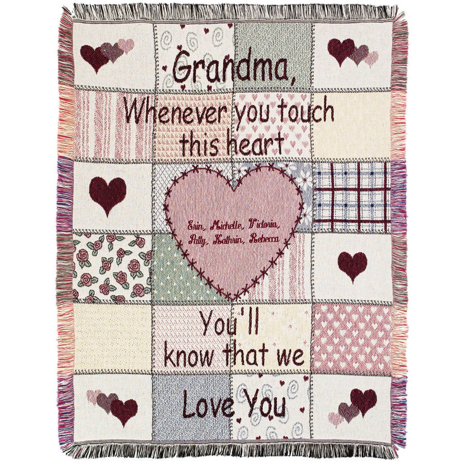 "Personalized Grandma's Touch 46"" x 60"" Throw"