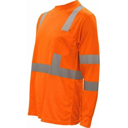 Cor-Brite Hi-Vis Lime Long Sleeve Shirt