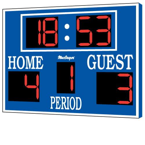 MacGregor Lacrosse Scoreboard with Steel Cabinet - 8' x 5'