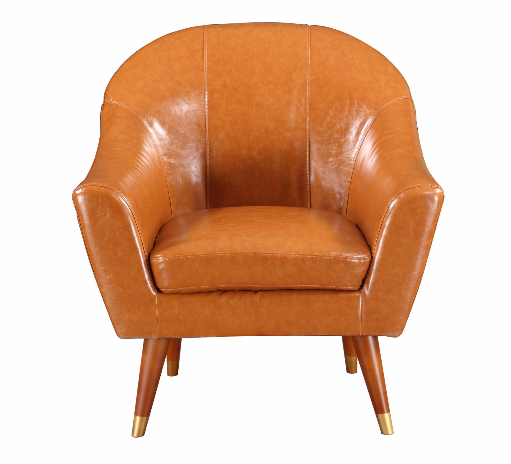 Mid Century Modern Bonded Leather Living Room Accent Chair   Walmart.com