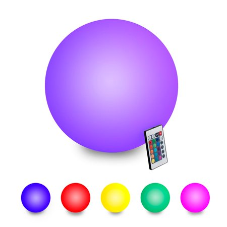 INNOKA Color Floating LED Ball Pool Waterproof Light Decor w/Remote for Outdoor Indoor - 11.8""