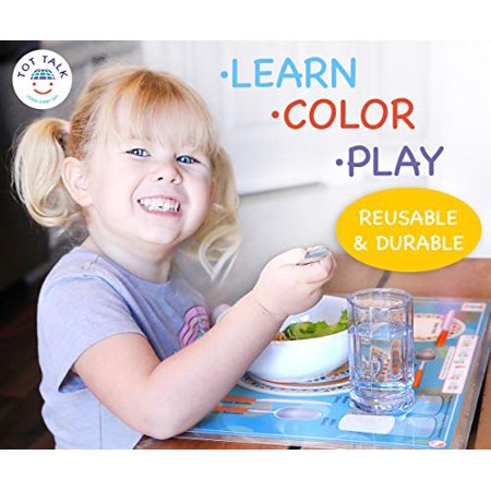 Placemat - Tot Talk - Table Setting & Etiquette Meal Dining Kids Mat tot1037 - image 1 of 4