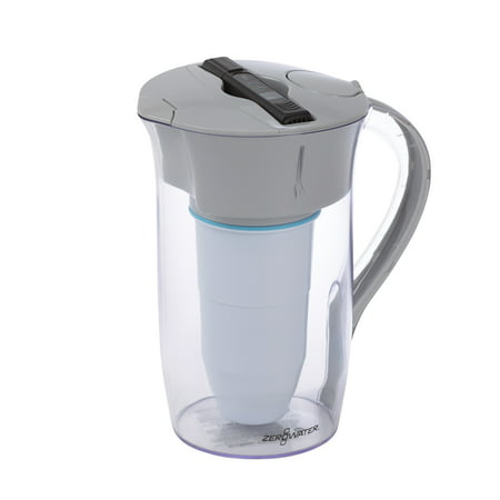 ZeroWater® 8 Cup Round Filtered Water Pitcher with Water Quality Meter - Clear