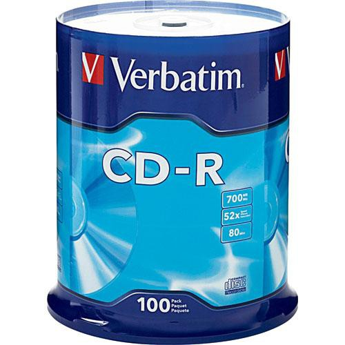 Verbatim CD-R 80 Minute (700 MB) (52x) DataLifePlus (Pk=100/Spindle) 94554