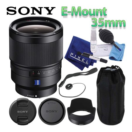 Sony Distagon T FE 35mm f/1.4 ZA Lens Mirrorless E-Mount Best Value Bundle Includes Professional Lens Cleaning Kit, Lens Cap Keeper, Manufacturer Included Accessories, and