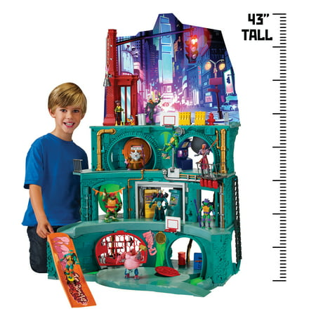 Rise of the Teenage Mutant Ninja Turtle Epic Lair Playset - Ninja Turtle Colors