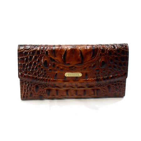 Brahmin Croco Embossed Soft Checkbook Wallet Cocoa ()