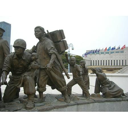 Canvas Print South Korea Memorial Korea War Monument Seoul Stretched Canvas 10 x 14](Halloween South Korea)