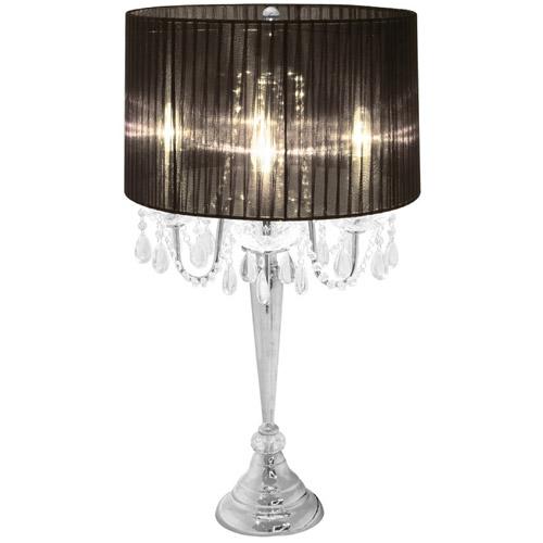Elegant Designs Trendy Romantic Sheer Shade Table Lamp with ...
